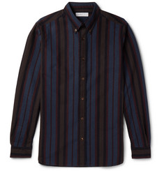 Several - Mersea Slim-Fit Button-Down Collar Striped Cotton Shirt