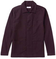 Several Curzon Pinstriped Cotton and Wool-Blend Shirt Jacket