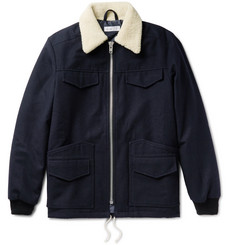 Several - Walker Faux Shearling-Trimmed Wool and Cotton-Blend Jacket