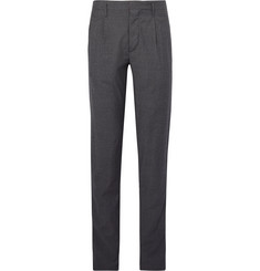 Incotex - Tapered Mélange Wool-Twill Trousers