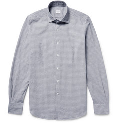 Incotex Slim-Fit Puppytooth Cotton-Jacquard Shirt