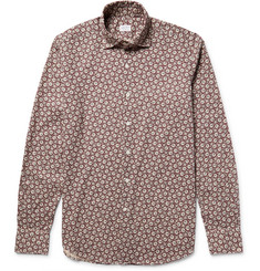 Incotex Slim-Fit Floral-Print Cotton Shirt