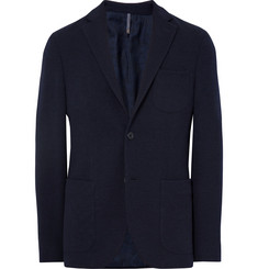 Incotex Blue Slim-Fit Wool-Terry Blazer