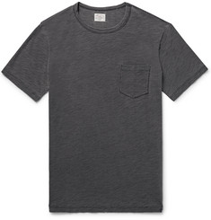 Faherty Indigo-Dyed Slub Cotton-Jersey T-Shirt