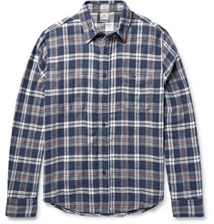 Faherty Reversible Checked Cotton-Twill Shirt