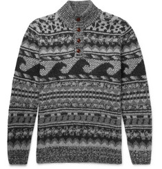 Faherty - Wave Jacquard-Knit Merino Wool and Alpaca-Blend Sweater