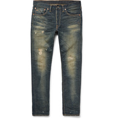 RRL - Slim-Fit Distressed Selvedge Denim Jeans