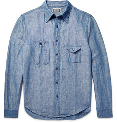 RRL Big Yank Slim-Fit Hemp and Cotton-Blend Chambray Shirt