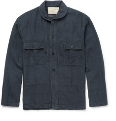 RRL Slim-Fit Penny-Collar Linen and Cotton-Blend Overshirt