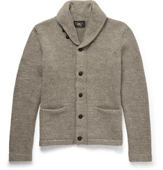RRL Shawl-Collar Mélange Cotton Cardigan