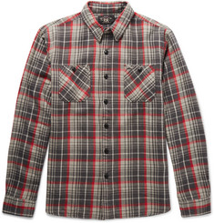 RRL Slim-Fit Checked Cotton-Flannel Shirt