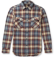 RRL Matlock Slim-Fit Checked Cotton-Twill Overshirt