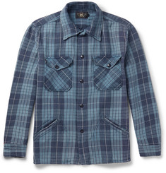 RRL Black Bear Slim-Fit Checked Cotton Overshirt
