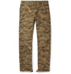 RRL Dawson Camouflage-Print Cotton-Canvas Trousers