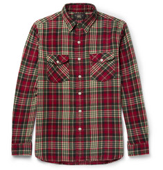 RRL Checked Brushed Cotton-Flannel Shirt