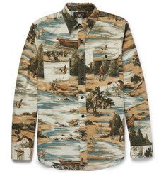 RRL Matlock Printed Brushed-Cotton Shirt