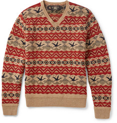RRL Patterned Wool, Linen and Cotton-Blend Sweater