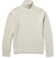 Calvin Klein Collection - Nelden Ribbed Mélange Camel Rollneck Sweater