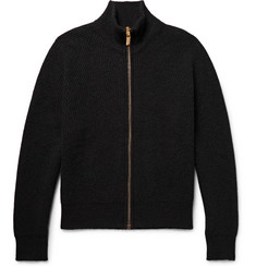 Calvin Klein Collection Newson Ribbed Cashmere Zip-Up Cardigan