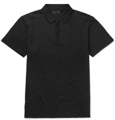 Calvin Klein Collection Nestore Textured Stretch-Cotton Polo Shirt