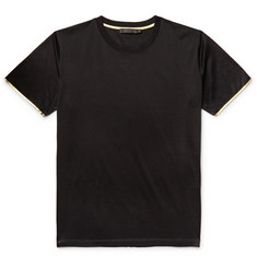 Calvin Klein Collection Nasan Contrast-Tipped Mercerised Cotton-Jersey T-Shirt