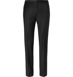 Calvin Klein Collection Slim-Fit Wool-Flannel Trousers