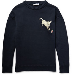 J.W.Anderson Embroidered Knitted Cotton Sweater