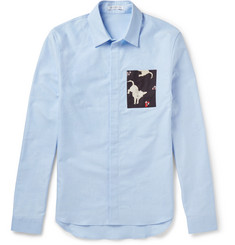 J.W.Anderson Slim-Fit Contrast-Trimmed Cotton Oxford Shirt