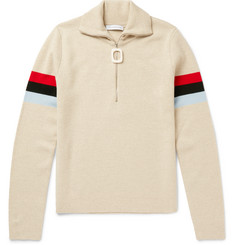 J.W.Anderson Striped Wool Half-Zip Sweater