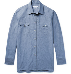 Marc Jacobs Slim-Fit Cotton-Chambray Western Shirt