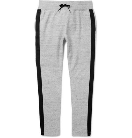 marc jacobs male 123868 marc jacobs slimfit striped melange cottonjersey sweatpants gray