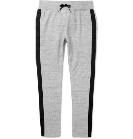 marc jacobs male 123868 marc jacobs slimfit striped melange cottonjersey sweatpants gray