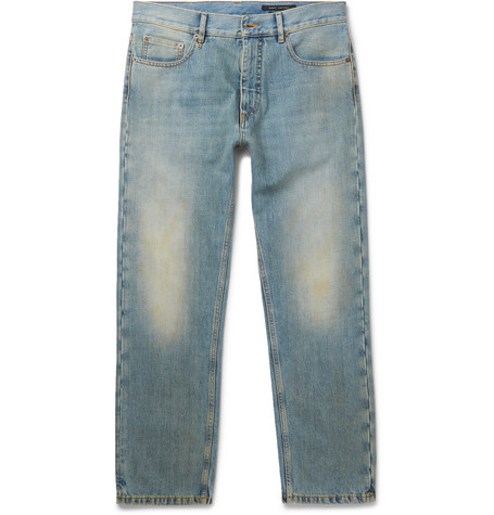 marc jacobs male  marc jacobs faded washeddenim jeans mid denim