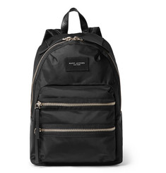 Marc Jacobs Leather-Trimmed Canvas Backpack