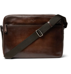 Berluti - Plein Jour Scritto Polished-Leather Messenger Bag