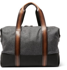Berluti - Week-End Leather-Trimmed Flannel Holdall