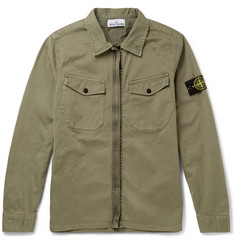Stone Island - Slim-Fit Stretch-Cotton Overshirt