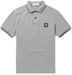 Stone Island Slim-Fit Stretch-Cotton Piqué Polo Shirt
