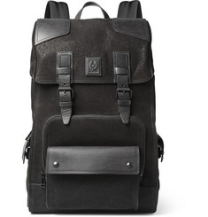 Belstaff Tourmaster Leather-Trimmed Nubuck Backpack