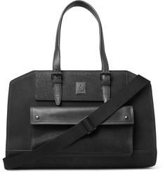 Belstaff Tourmaster Leather-Trimmed Burnished-Suede Holdall