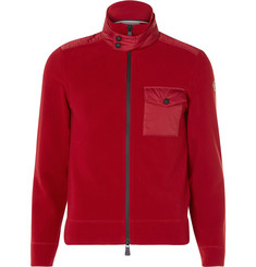 Moncler Grenoble Shell-Trimmed Fleece Zip-Up Base Layer