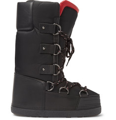 Moncler Grenoble Leather-Trimmed Shell Snow Boots