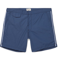 Hartford Socoa Mid-Length Striped Swim Shorts
