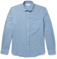 Hartford Slim-Fit Cotton-Poplin Shirt