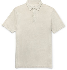 Hartford - Slim-Fit Knitted Linen Polo Shirt