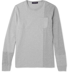 Undercover Waffle-Knit Panelled Cotton-Jersey Sweatshirt