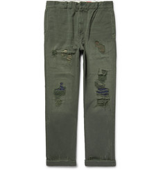 Levi's Vintage Clothing Distressed Sanforized™ Cotton-Sailcloth Trousers