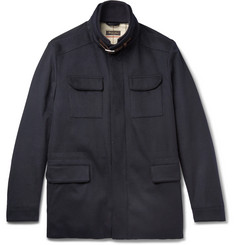 Loro Piana Leather-Trimmed Storm System® Stretch-Cashmere Field Jacket