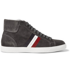 Moncler La Montecarlo Suede High-Top Sneakers