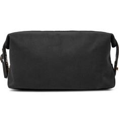 Paul Smith - Leather-Trimmed Cotton-Twill Wash Bag